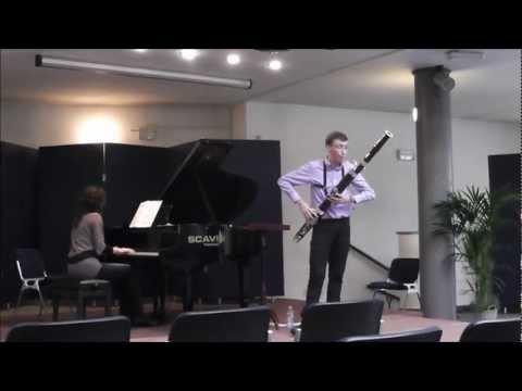 Andrea Cellacchi - C. Saint-Saëns Sonata op. 168 per fagotto e pianoforte