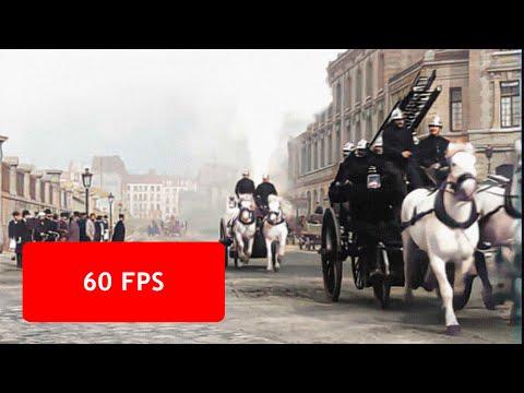 [60 fps]  A Trip Through Paris, France in late 1890s / Un voyage à travers Paris, 1890