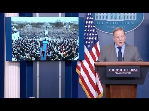 Trump Press Secretary Scolds Press Over Inauguration Coverage - Full Event