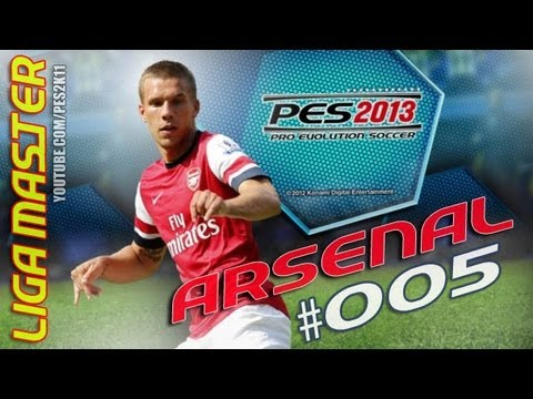 Gameplay PES 2013: LIGA MASTER Arsenal # 005 – Wigan Athletic