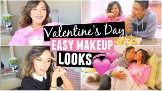 Valentine's Day Daytime & Night time Makeup Looks! QUICK & EASY! by ThatsHeart