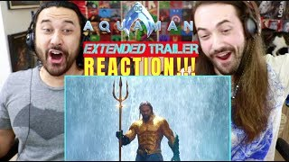 AQUAMAN - Extended TRAILER REACTION!!!