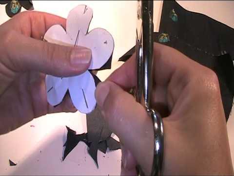 Stoffblumen Brosche 1