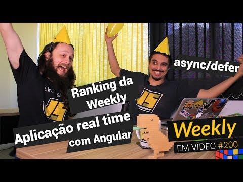 Weekly #200 - Ranking da Weekly, Aplicação real time com Angular e async/defer