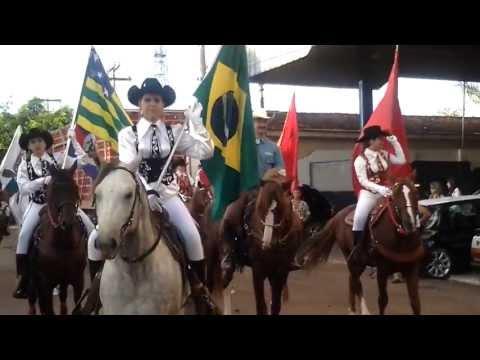 Desfile de encerramento das Cavalhadas 2013 em Palmeiras de Goiás