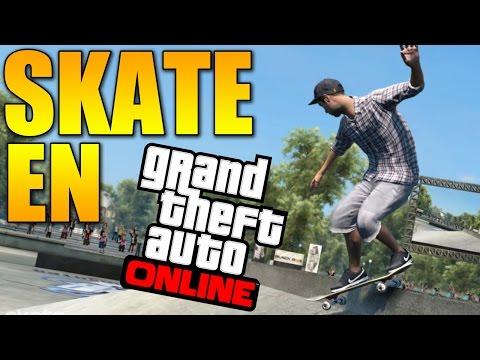 Skate en GTA 5 Online 1.15 !!! + Surf por debajo del AGUA !!! - GTA V Online 1.15 Funny Glitch (видео)