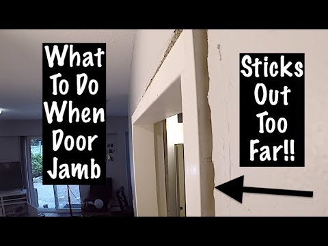 TRIMMING A DOOR When The JAMB IS NOT FLUSH WITH THE WALL