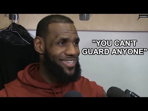 LeBron James SNAPS and LAUGHS at reporter after he questioned Cavs' defense 01.11.2018