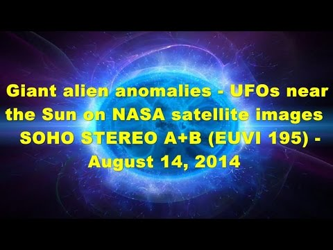 Giant alien anomalies – UFOs near the Sun on NASA satellite images SOHO – August