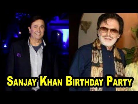 Randhir Kapoor At Sanjay Khan Birthday Party