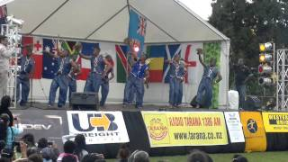 Fiji Bula Festival With Indian/Bollywood Fusion Meke By The Fiji Police Marching Band RWC 2011 NZ