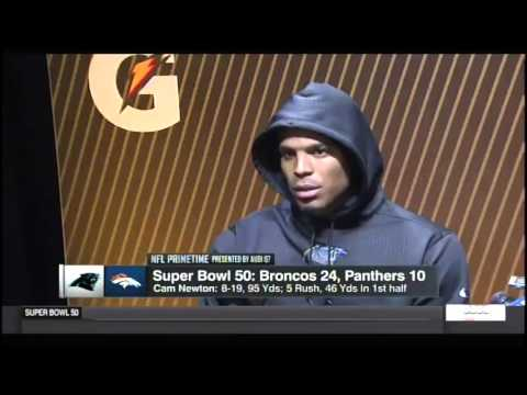 Cam Newton Walks Out Of Press Conference After Loss