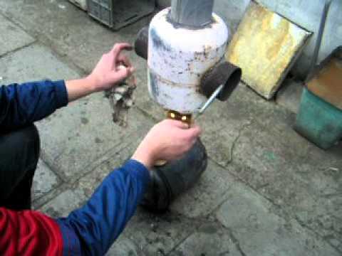 Отопление в гараже на отработке своими руками