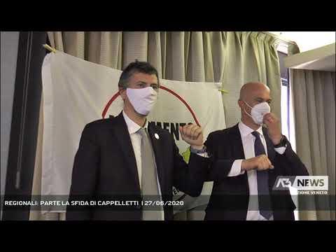 REGIONALI: PARTE LA SFIDA DI CAPPELLETTI  | 27/06/2020