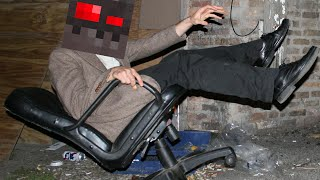 GRASER FALLS OUT OF HIS CHAIR