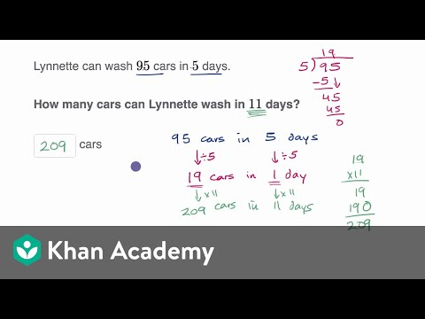 Rate problems (video) | Intro to rates | Khan Academy