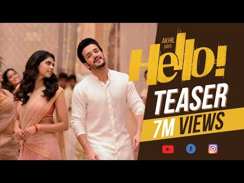 HELLO! Teaser - Akhil Akkineni, Kalyani Priyadarshan || Vikram K Kumar || Akkineni Nagarjuna (видео)