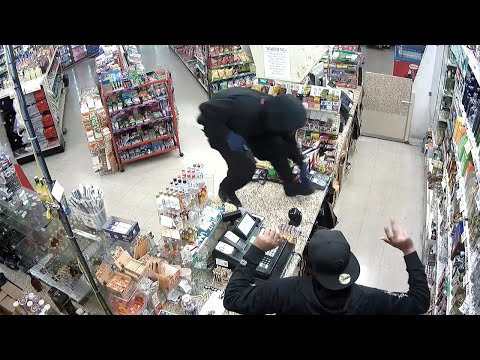 'Don't be a hero,' armed bandit tells clerk during liquor store robbery