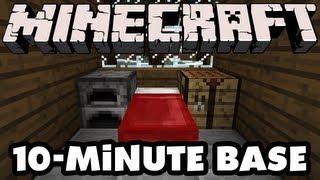 Minecraft - 10-Minute Base!