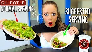 Only Eating Recommended Serving Sizes for 24 HOURS FOOD CHALLENGE! | Krazyrayray by Krazyrayray