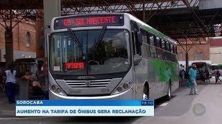 Aumento na tarifa do transporte coletivo gera reclamações em Sorocaba