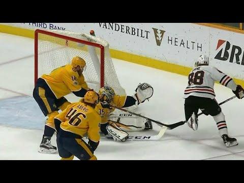 Video: Pekka Rinne robs Patrick Kane twice up close to keep Blackhawks off scoresheet