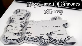 Welcome Game of Thrones fans! In this video I'm showing you how to make a 3d cardboard Game of Thrones map. The reason I made mine was because I just ...