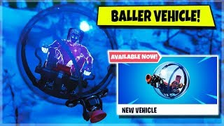 FORTNITE: SEASON 8 - NEW BALLER VEHICLE GAMEPLAY! (iOS, Android, Xbox, PS4, Switch!)
