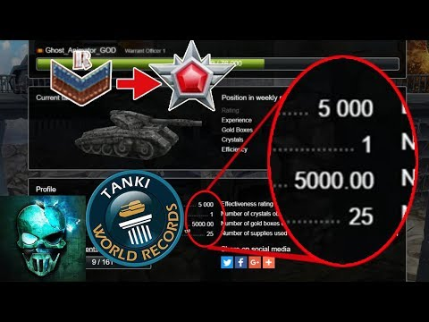 Tanki Online - 5000 KDR (K/D) - New Tanki World Record!! - Road to Legend ? | танки Онлайн