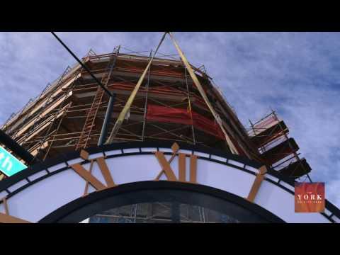 The York on City Park - Clock Installation