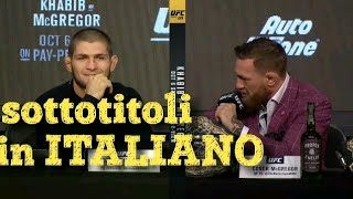 Download Video Conor Mcgregor vs Khabib Nurmagomedov face off SOTTOTITOLATO MP3 3GP MP4