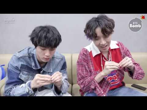 [BANGTAN BOMB] Jin & j-hope Play with Earrings - BTS (방탄소년단)