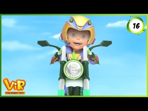 Vir: The Robot Boy | The Mad Bike | Action Show for Kids | 3D cartoons
