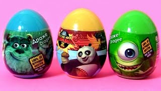 Kung Fu Panda Surprise Eggs Disney Pixar Monsters University Play-Doh Clay Buddies Kinder Lego MLP