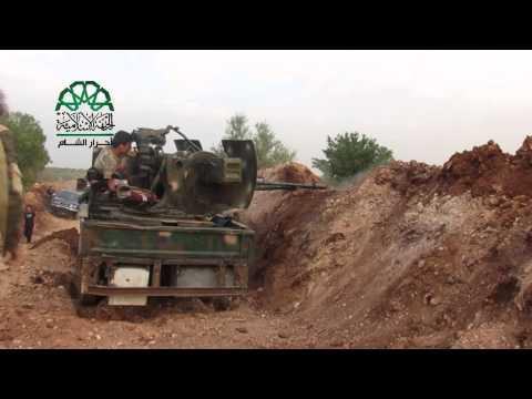 حلب: استهداف تحصينات ميليشيات الأسد على جبهة باشكوي بمدفع 23