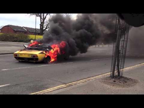 Video captures Lamborghini Miura burning to the ground