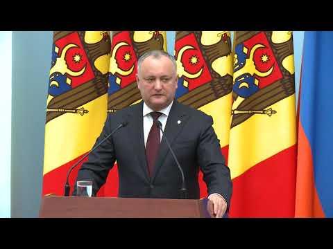 Președintele Moldovei Igor Dodon a avut o întrevedere cu Președintele Armeniei, Serzh Sargsyan