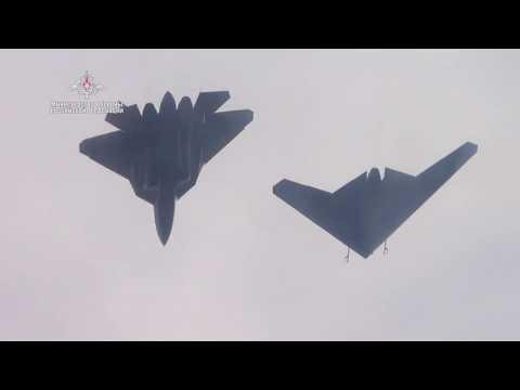 Первый совместный полет БЛА «Охотник» с истребителем Су-57