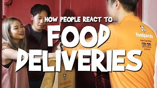 Video How People React To Food Deliveries MP3, 3GP, MP4, WEBM, AVI, FLV Februari 2019