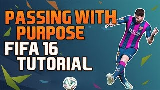 A tutorial on how to use the new Passing with Purpose feature in FIFA 16! Passing with Purpose is not an easy feature, which is why we give you some tips and tricks on how to use it in this FIFA 16 in depth guide so you can improve passing in your game.▼Click here for additional information! :-)In FIFA 16 the defensive has become stronger which makes the build up play not as easy as it was the past years. The FIFA 16 Feature Passing with Purpose is really important to get your offensive game going. Therefore we explain to you in detail how and when to use the hard passes in this FIFA 16 Tutorial.Other FIFA 16 tutorial videos:FUT Draft Guide: https://www.youtube.com/watch?v=rfiCuPbNI8kRabona Shot Tutorial: https://www.youtube.com/watch?v=2cw_inmUdEUWe were invited to EA in Cologne and were already able to play the full version of FIFA 16 and also capture some FIFA 16 videos.The retail version of FIFA 16 will be released on 24th of September.• Pre-order FIFA 16 and support bPartGaming for free!http://goo.gl/qKCpM1Thanks!• Social MediaFacebook: http://bit.ly/bPG-FacebookTwitter: http://bit.ly/bPG-TwitterGoogle+: http://bit.ly/bPG-Googleplus