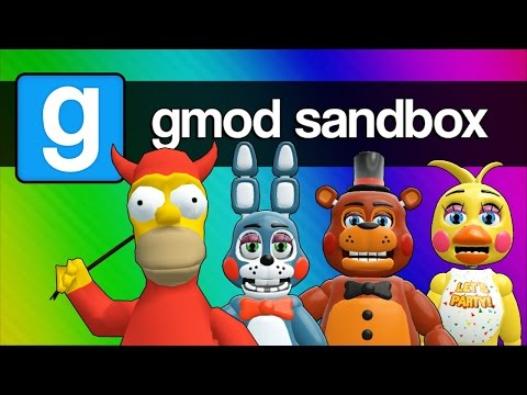 Five Nights at Freddy's 2, 3, and 4 with Homer Simpson (Gmod Sandbox Funny Moments)