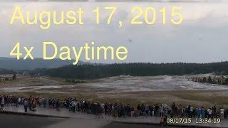 August 17, 2015 Upper Geyser Basin Daytime 4x Streaming Camera Captures