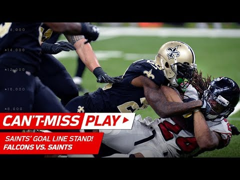 Video: New Orleans Puts Up a Brick Wall vs. Atlanta on Goal Line Stand! | Can't-Miss Play | NFL Wk 16