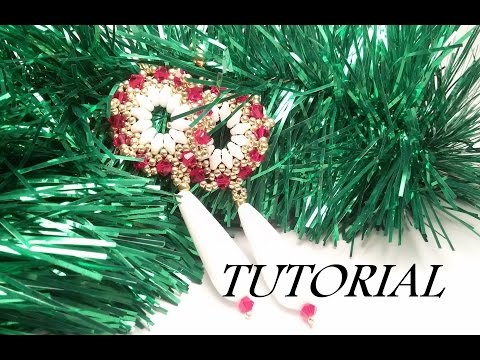 TUTORIAL Orecchini Stella di Natale con SUPERDUOe bicono | Christmas Star Earrings TUTORIAL