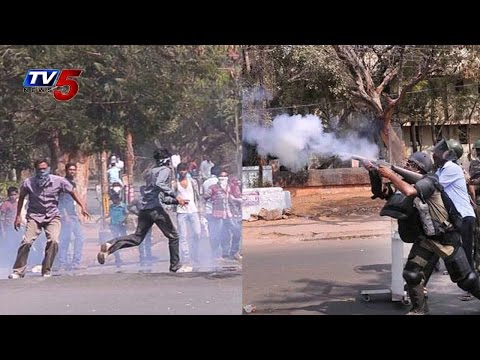 Tension Situations At Osmania Campus   Police vs Students : TV5 News