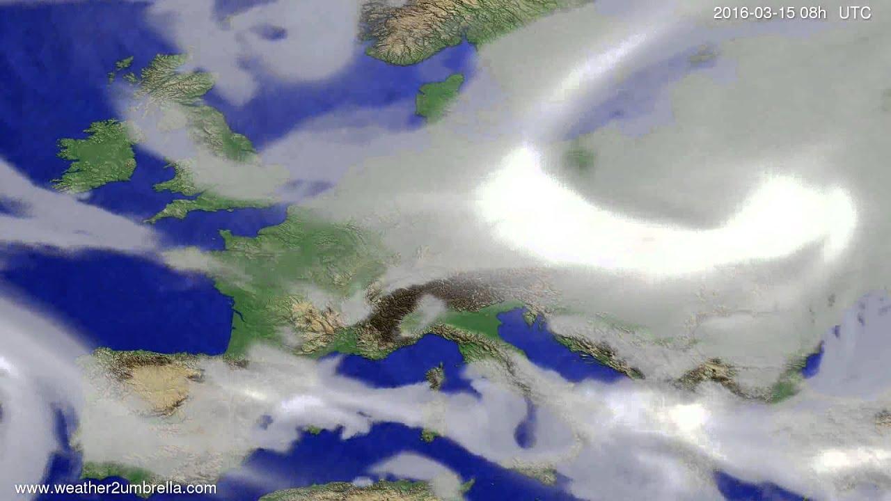 Cloud forecast Europe 2016-03-12