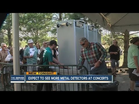 Expect to see more metal detectors at concerts