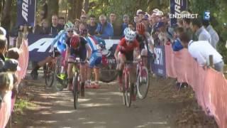 Pontchateau France  city photo : Championnat d'Europe de cyclo-cross à Pontchâteau, course Elite femmes