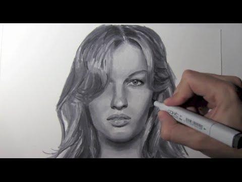 Wie zeichnet man ein Gesicht einer Frau – Online Zeichnen Lernen