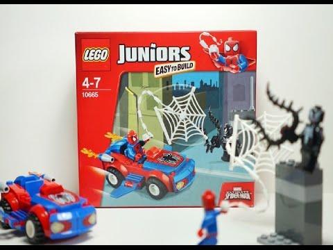 Vidéo LEGO Juniors 10665 : Spider-Man: Poursuite avec la Spider-Car